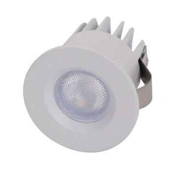 3w Pocket Mini Fixed LED Downlight - White (20 Degree Beam - 125lm)