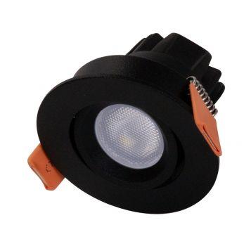 3w Pocket Mini Adjustable LED Downlight - Black (20 Degree Beam - 125lm)