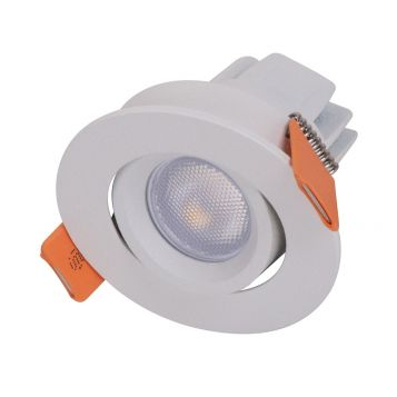 3w Pocket Mini Adjustable LED Downlight - White (20 Degree Beam - 125lm)