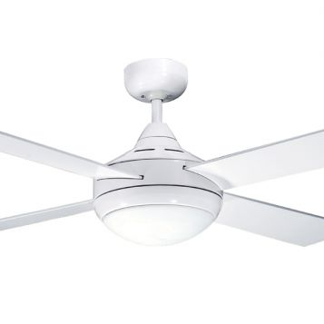 Primo 1200 Ceiling Fan with Light - White