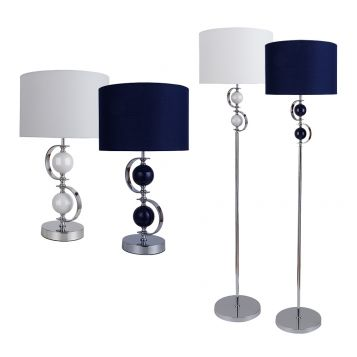 L2-5785 Metal Base Table and Floor Lamp Range