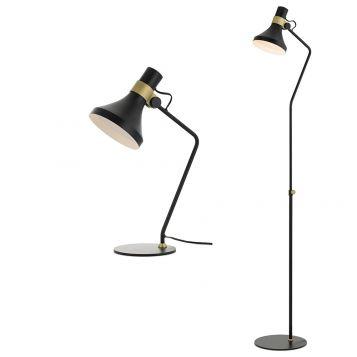 L2-5693 Black Table & Floor Lamp Range from