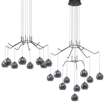 L2-11502 Black LED Pendant Light Range