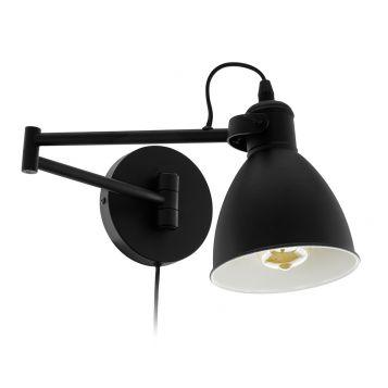 L2-6466 Adjustable Black Wall Light