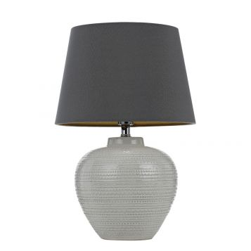L2-5421 Ceramic Table Lamp with Grey Shade