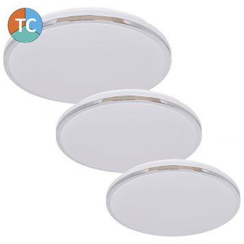 L2U-9183 Slim Design Tri-Colour LED Ceiling Light - Chrome from