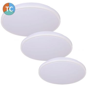 L2U-9183 Slim Design Tri-Colour LED Ceiling Light - White from