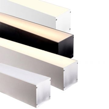 L2U-7235 Large Deep Square Aluminium Profile with Movable Insert