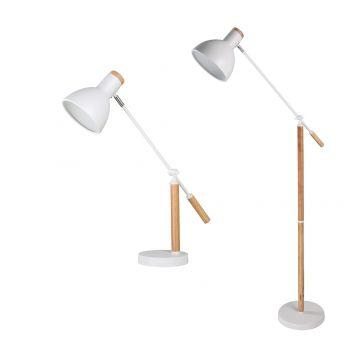 L2-5723 White Table & Floor Lamp Range from