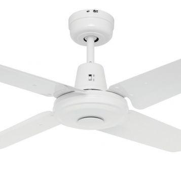 Swift 900mm Metal Blades Ceiling Fan - White