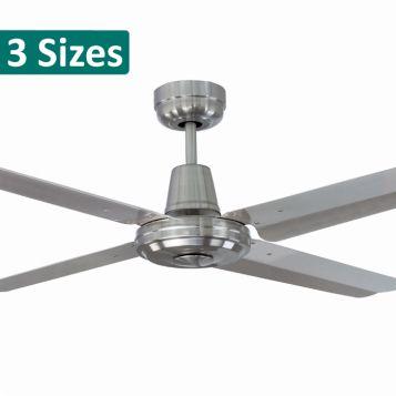 SWIFT Metal Ceiling Fan - Brushed Chrome