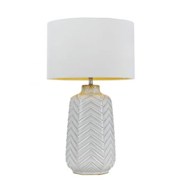 L2-5428 White Ceramic Base Table Lamp
