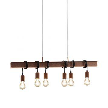 L2-11064 Antique Brown Bar Pendant Light