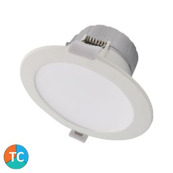 9w Viva Tri-Colour LED Downlight - White (90 Degree Beam - 880lm)