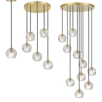 L2-11449 LED Pendant Light Range - Antique Gold