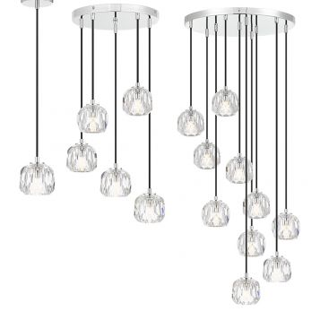 L2-11449 LED Pendant Light Range - Chrome