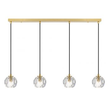 L2-11450 4-Light LED Bar Pendant Light - Antique Gold