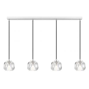 L2-11450 4-Light LED Bar Pendant Light - Chrome