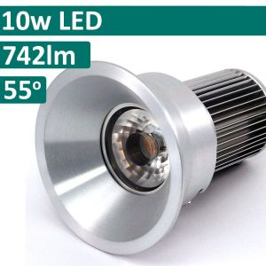 10w DL-138 LED Downlight - Satin Chrome