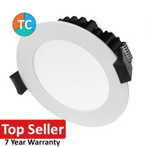 12w P121 Wide Beam Tri-Colour LED Downlight - White (120 Degree Beam - 1000lm)