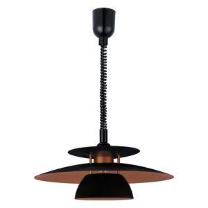 L2-1538 Adjustable Black with Copper Pendant Light