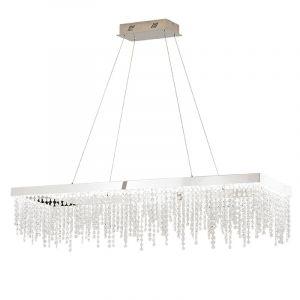 L2-1784 Rectangle Crystal LED Pendant Light