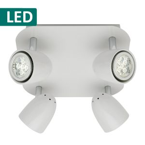 L2-331 Square White LED Spotlight
