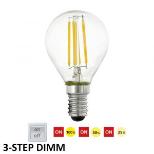 L2U-3180 4w Fancy Round 3-Step Dimmable LED Lamp - E14 Base