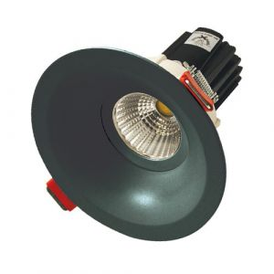12w MDL-16 LED Downlight with Deep Recessed Frame - Black (40 Beam - 880lm)