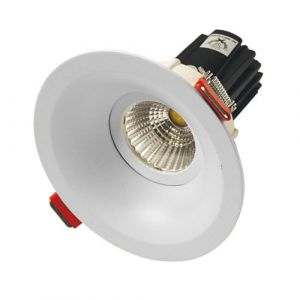 12w MDL-16 LED Downlight with Deep Recessed Frame - White (40 Beam - 880lm)