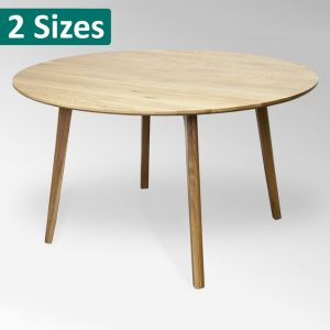 F2-103 Solid Oak Round Table from