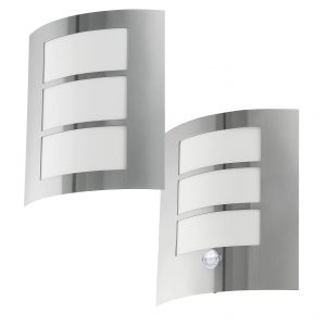 L2-713 Stainless Steel Wall Light with Optional Sensor from