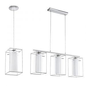 L2-1735 Chrome, Double Glass Pendant Light Range