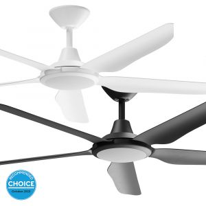 """Storm 1430mm (56"""") DC ABS 5 Blade Ceiling Fan with LED Light & Remote"""