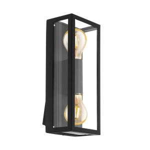 L2U-41053 2-Light Black Exterior Wall Light