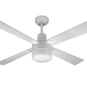 Alpha Ceiling Fan with Clipper Light White