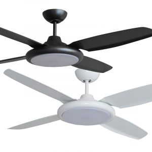 """Beret 1320mm (52"""") 4 ABS Blades Ceiling Fan with LED Light Range"""