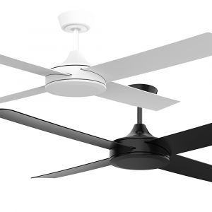 """Breeze 1320mm (52"""") DC ABS 4 Blade Ceiling Fan with Remote and Optional LED Light"""