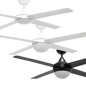 """Bulimba 1220mm (48"""") ABS 4 Blade Ceiling Fan with Optional Light"""