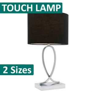 L2-5201 Chrome Touch Table Lamp from