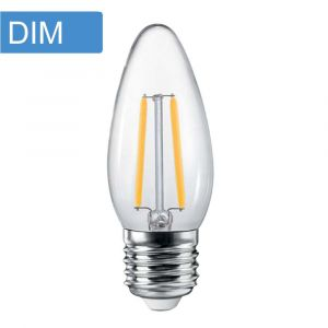 4w C35 Candle Dimmable LED Filament Lamp - E27 Base