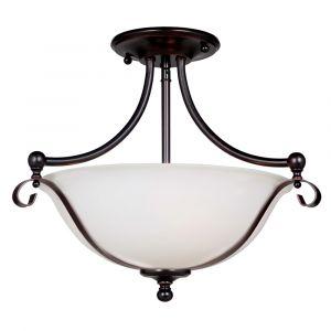 L2-1922 Antique Bronze Semi Flush Ceiling Light