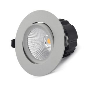 15w Dione Adjustable LED Downlight - Silver (45 Degree Beam - 1190lm)