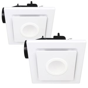 L2U-194 Square 2in1 10w LED Light and Exhaust Fan Range from
