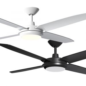 """Enviro 1320mm (52"""") DC ABS 4 Blade Ceiling Fan with LED Light & Remote"""