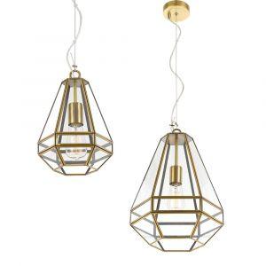 L2-11109 Antique Brass Pendant Light Range