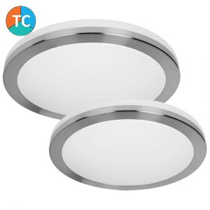 L2U-9201 Satin Nickel LED Oyster Light Range from