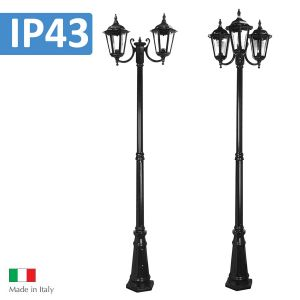 L2U-4339 Chester Traditional Curved Head Post Light