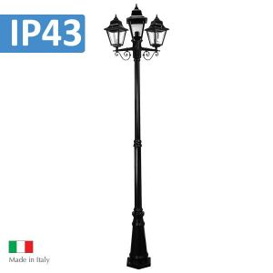 L2U-4348 Paris Traditional Triple Head Post Light