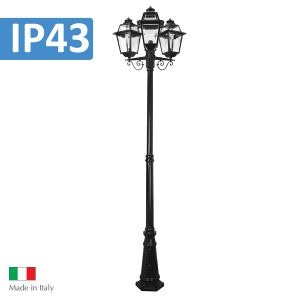 L2U-4356 Traditional Triple Head Post Light